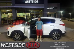 Happy Anniversary to Dale on your #Kia #Sportage from Antonio Page at Westside Kia!