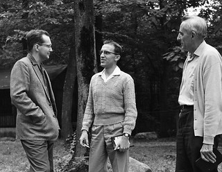 Robert Stetter Paul Swarr Quintus Leatherman at Missionary Conference 1962 Mt Pleasant PA