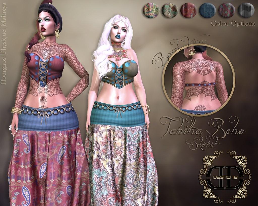 Tabitha Boho Dress Fatpack @Glam Couture - SecondLifeHub.com
