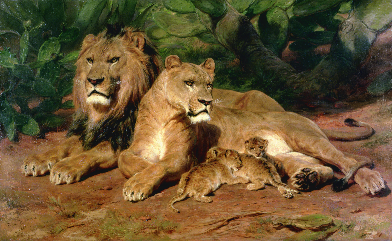 The Lion at Home, 1881 – Rosa Bonheur. Image: © Ferens Art Gallery