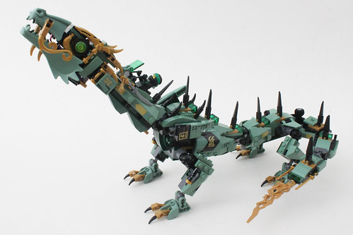 the lego ninjago movie green ninja mech dragon 70612