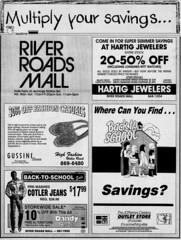 River Roads Mall newspaper ad (1990)
