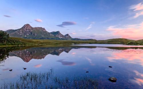 2017 ben blue clouds evening hakel lochan loyal mountain sunset sutherland tongue twilight scotland unitedkingdom