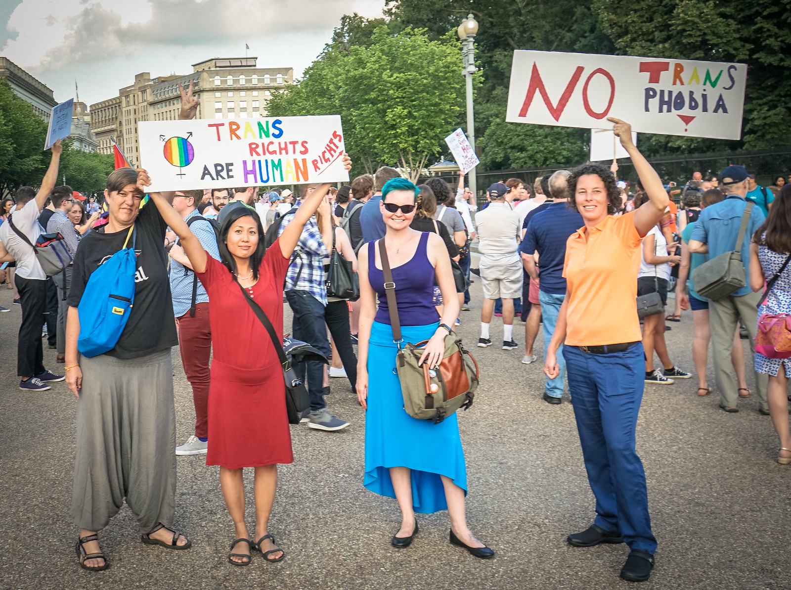2017.07.26 Protest Trans Military Ban, White House, Washington DC USA 7631
