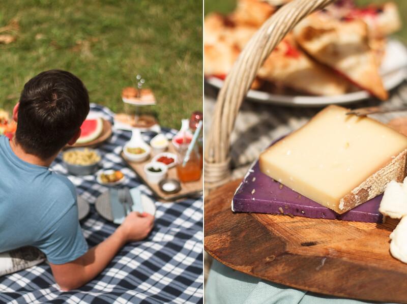 Picknick-mit-Käse-und-Snacks