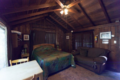 Cabin 9, Main Room, Bed and Couch