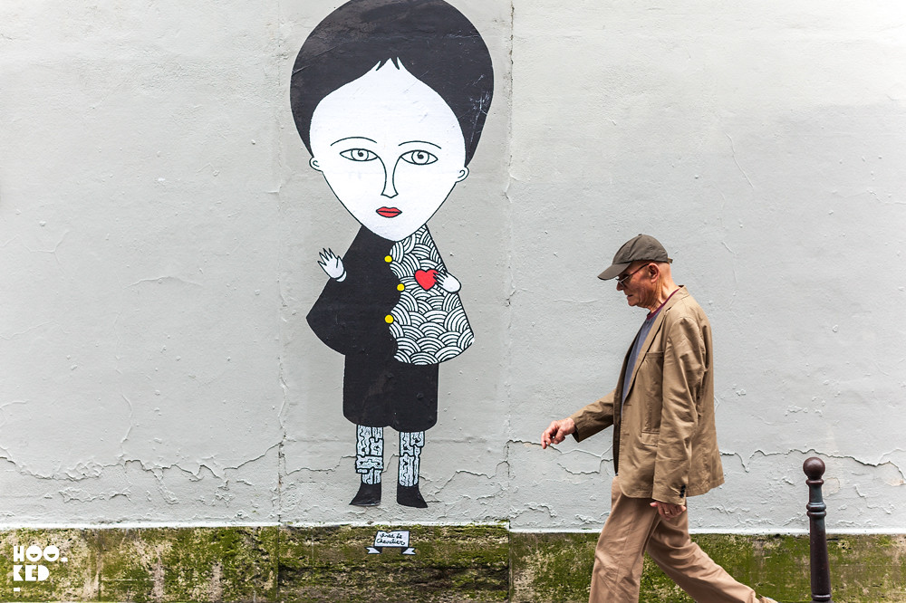 Fred Le Chevalier, Paris Street Art. Photo ©Hookedblog / Mark Rigney