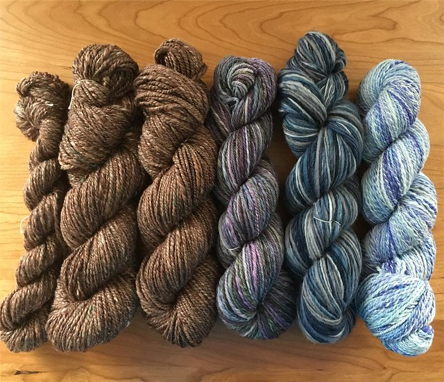 All the yarn spun for Tour de Fleece. #tourdefleece #spinning