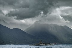 Dramatic mountains & the boat