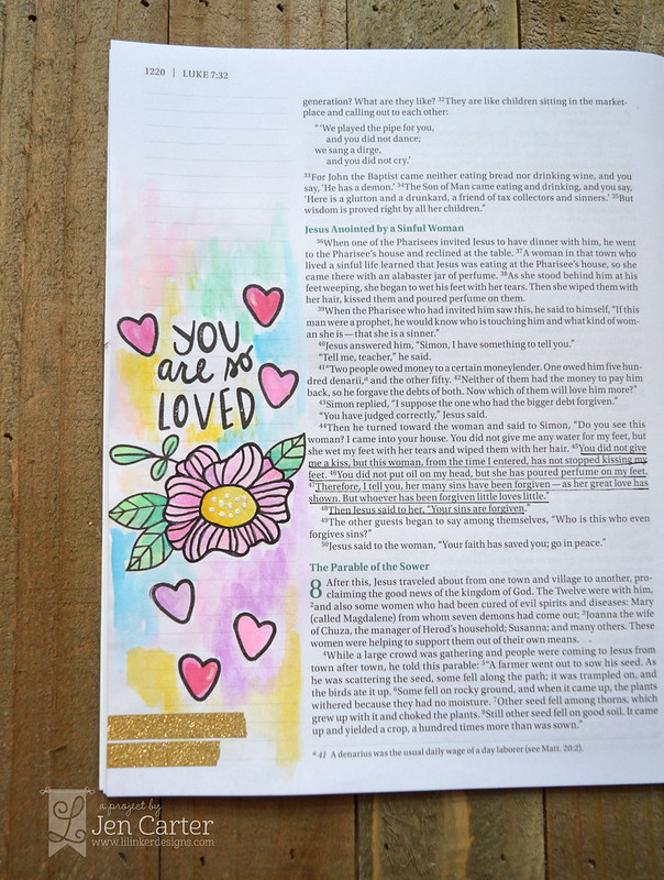 Jen Carter Encouraging Words Bible Journaling 1 wm