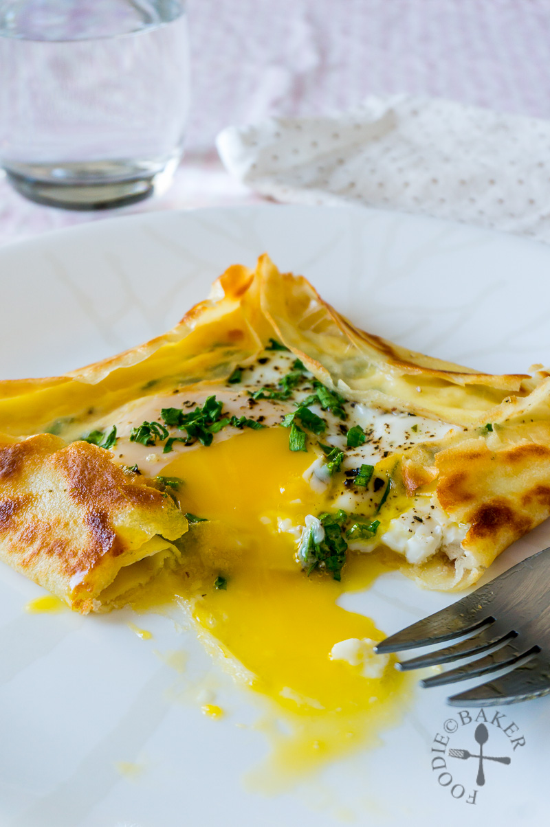 Egg and Cheese Crêpe Square