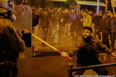 Violence at anti-Obama demonstration in Athens