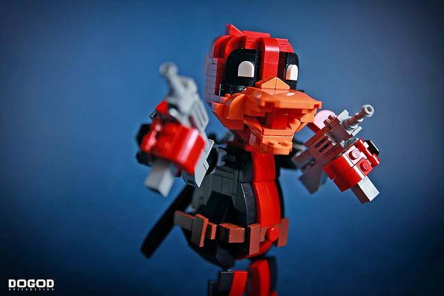 既然買不到,那就只好自己做摟~DOGOD 狗神磚創 MOC 作品【死侍鴨】Deadpool Duck