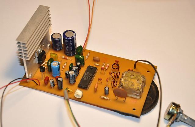 Prototype version of CXA1191S FM radio receiver.