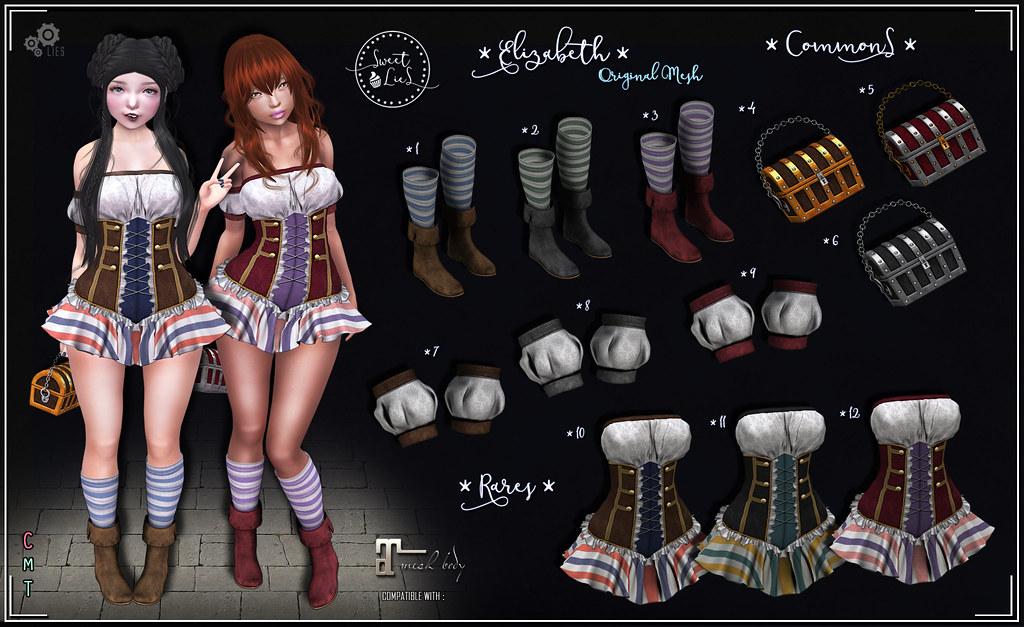 Elizabeth Outfit Gacha - Sweet Lies Original - SecondLifeHub.com