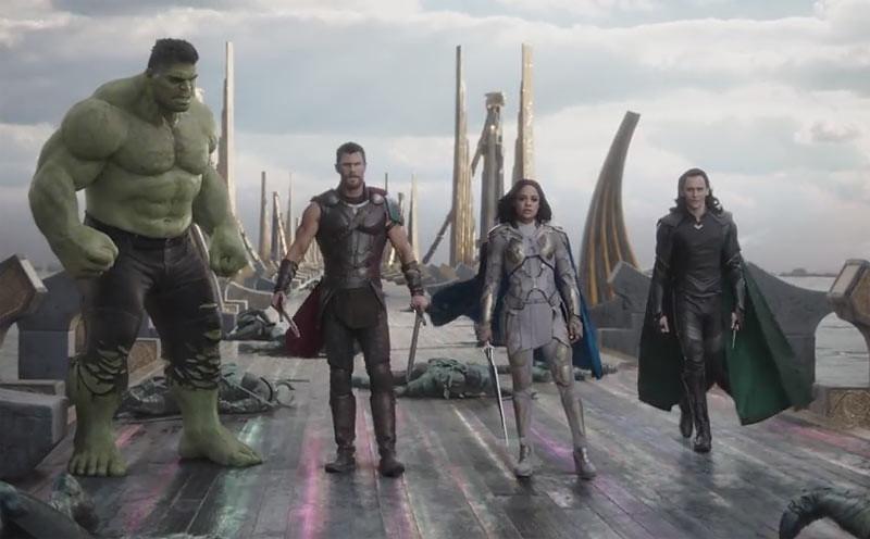 Salah satu adegan di film Thor: Ragnarok.