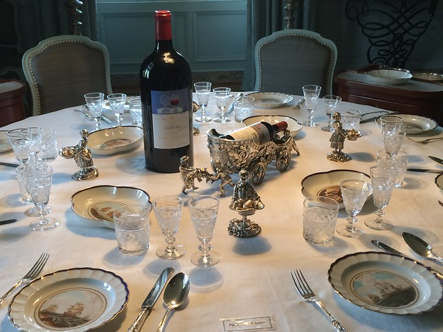 Dinner table, Chateau Mouton Rothchild
