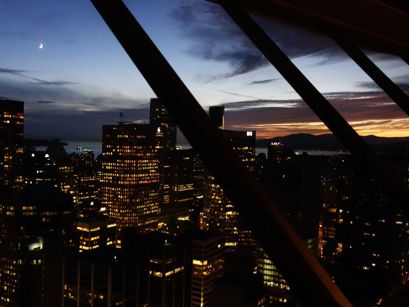 Top of Vancouver sunset