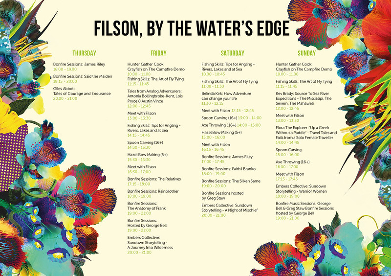 Filson, By The Water's Edge program - Wilderness Festival 2017