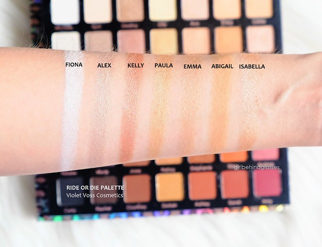 Violet Voss Cosmetics Ride or Die Palette Row 2 swatches