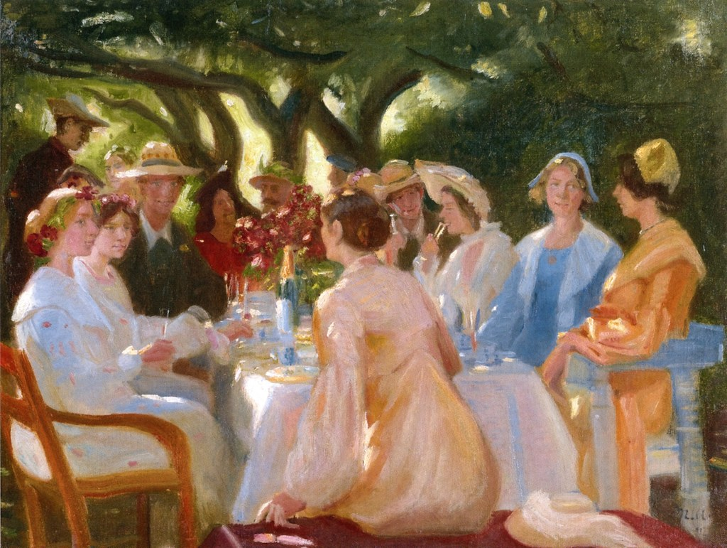 The Actor's Lunch, Skagen by Michael Peter Ancher, 1902