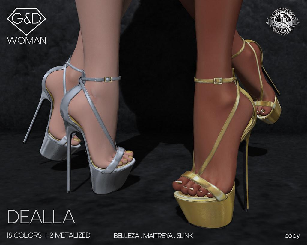 G&D Sandals Dealla 01 adv - SecondLifeHub.com
