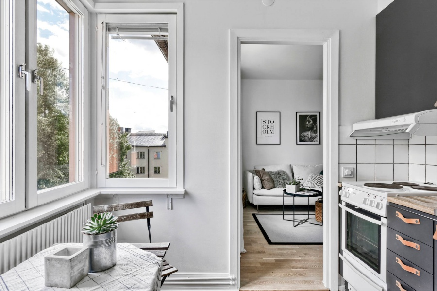 Simple Swedish Studio Apartment