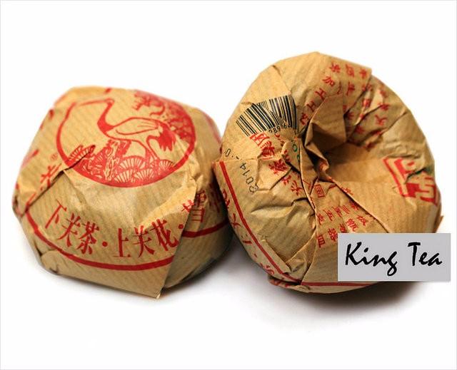 Free Shipping 2014 XiaGuan JiaJi Tuo Bowl 100g China YunNan Chinese Puer Puerh Raw Tea Sheng Cha Weight Loss Slim Beauty