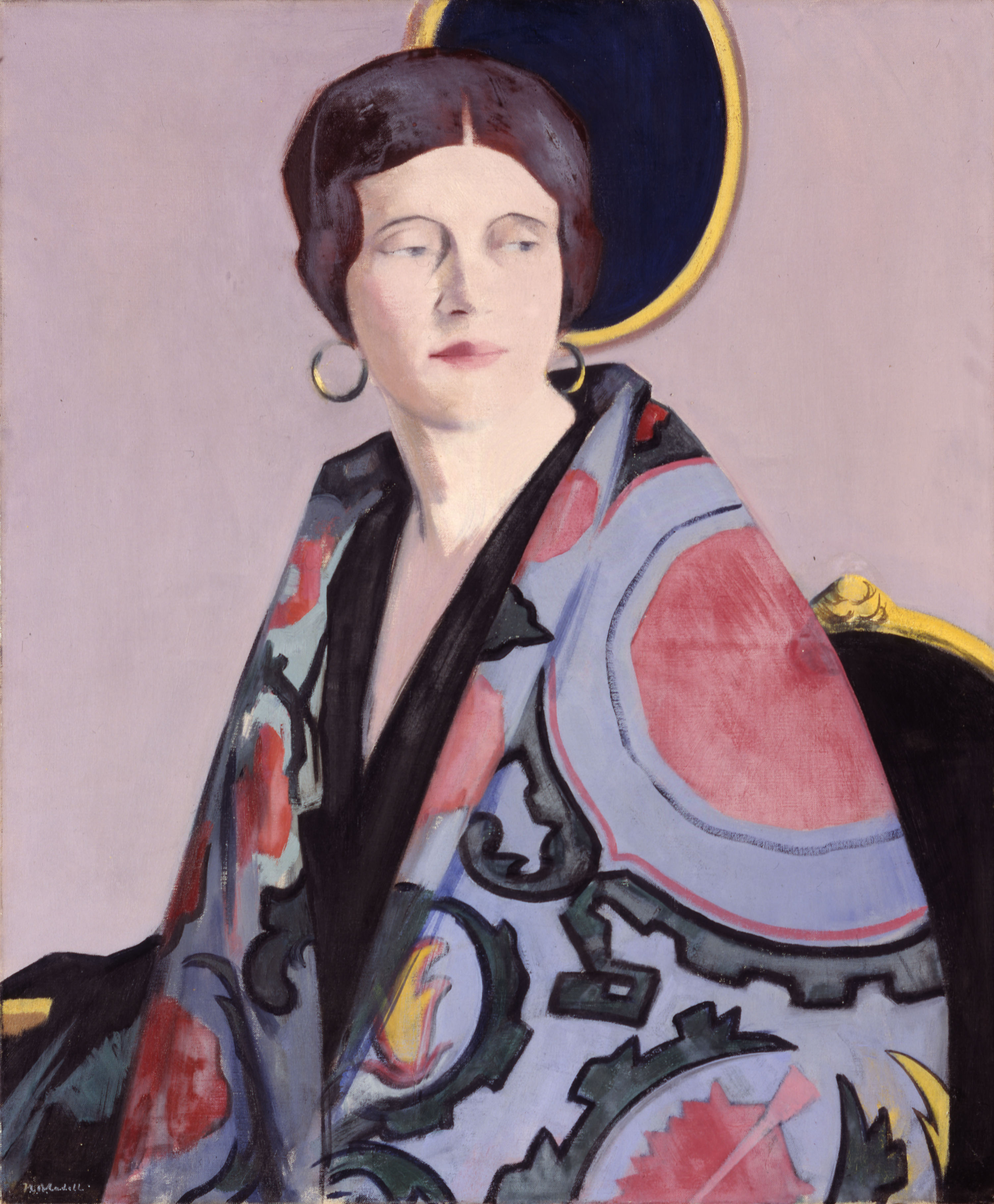 The Embroidered Cloak, 1920-29 - Francis Campbell Boileau Cadell. Image: © Ferens Art Gallery