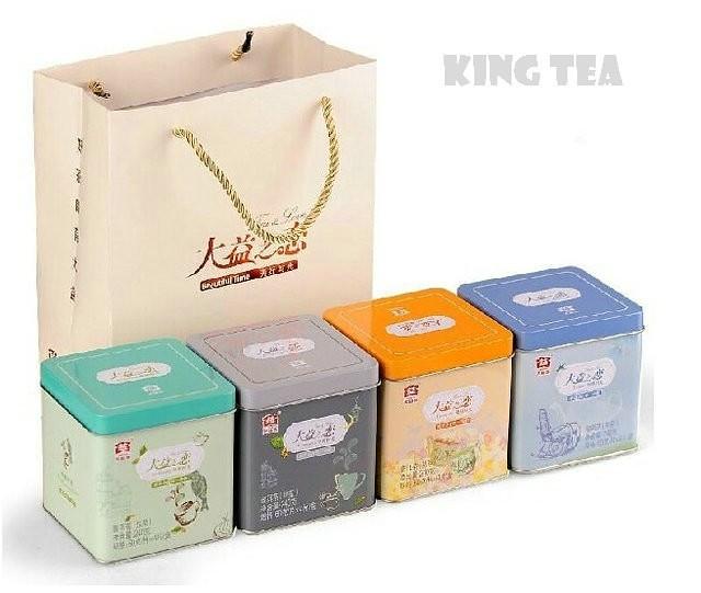 Free Shipping 2012 TAE TEA DaYi LOVE 60g*4pcs=240g*4=960g China YunNan MengHai Chinese Puer Puerh Pu'er Raw + Ripe Tea Sheng Cha 480g+ Shou 480g