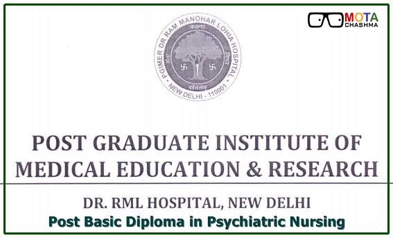 RML Hospital Post Basic Diploma in Psychiatric Nursing