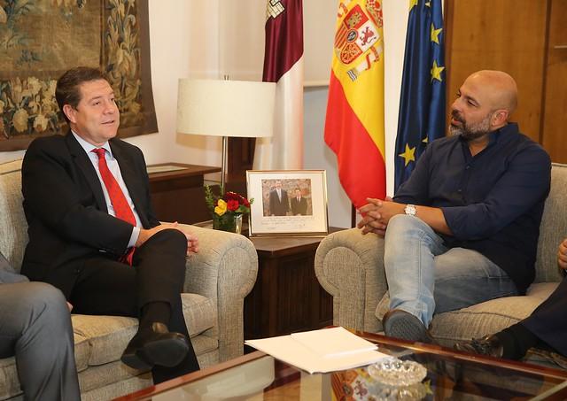 Reunión con el secretario general de Podemos en la región, José García Molina