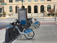 #RTCBikeShare, Saturday morning in downtown Las Vegas