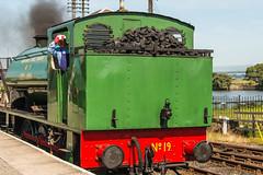 Bo'ness & Kinneil Railway - NCB (060ST) Engine No 9 Rear