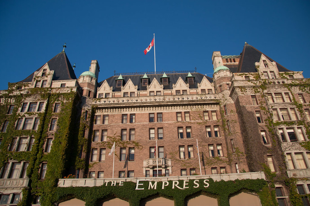 Empress Hotel in Victoria, part of Alaska Cruise