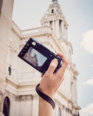 Enjoying the stunning view outside St. Paul's, London. Fujifilm X100T in hand with our Oxford wrist strap.