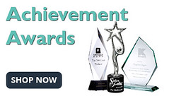 Personalized achievement awards for employees, events, individuals
