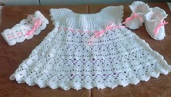 👊💓💓 Simple and very delicate I loved this crochet dress look step by step pattern for baby