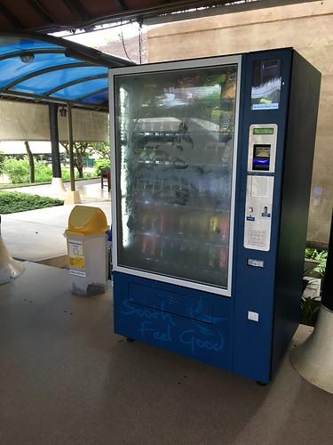 今日のサムイ島 7月21日 サムイ空港ミーティングポイントに自販機設置