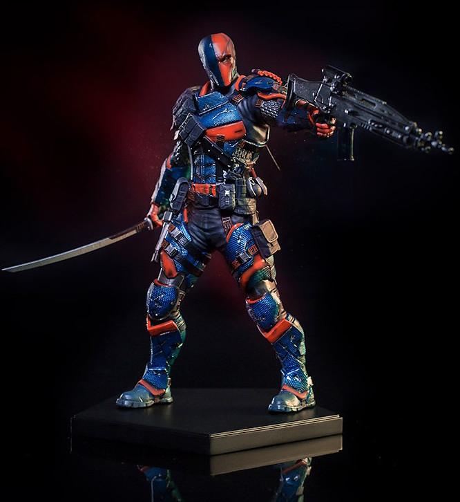 「世上最昂貴刺客」參戰!!Iron Studios 蝙蝠俠:阿卡漢騎士【喪鐘】Arkham Knight Deathstroke 1/10 比例全身雕像作品