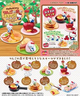 RE-MENT 《Hello Kitty》 「蘋果森林的美味蘋果料理」盒玩作品!ハローキティ りんごの森のスイーツフィギュア
