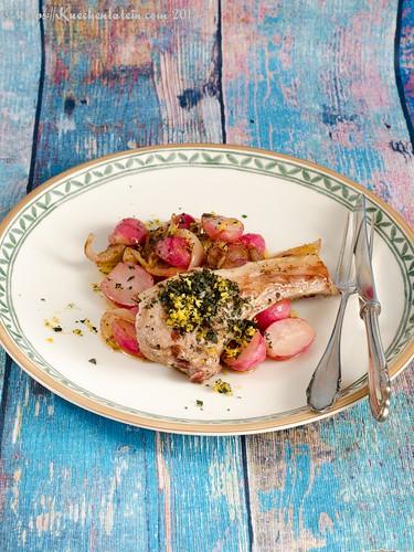 Sautierte Radieschen mit Kotelett vom Salzwiesenlamm (2)