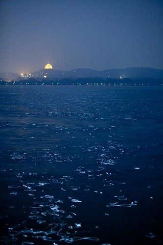 West Lake at night. From Visiting Marco Polo's Favorite City in China