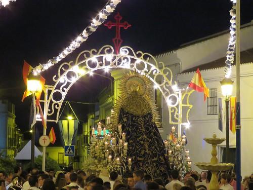 Procesión de la Virgen de las Angustias en Aznalcázar