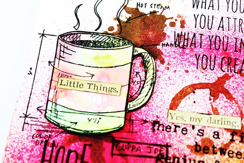 Meihsia Liu Simply Paper Crafts Mixed Media Art Journal Drink Coffee Simon Says Stamp Tim Holtz 5