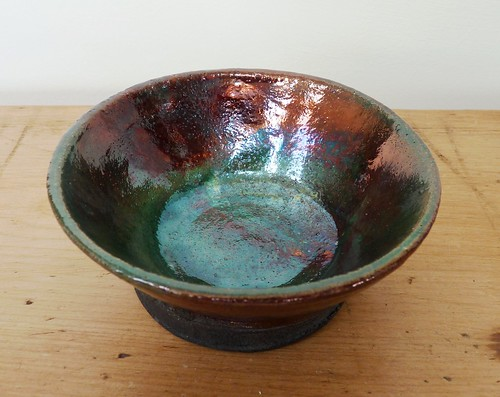 copper raku bowl
