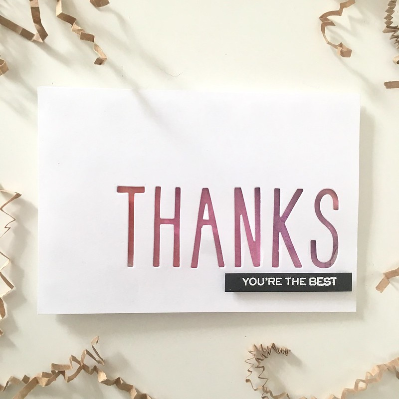 CAS thank you card