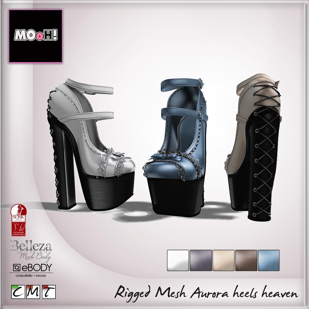 MOoH! Aurora heels heaven - SecondLifeHub.com