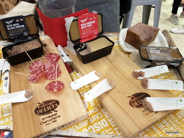 sampling station at Murray's Cheese