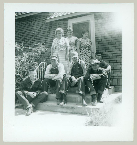 Group on front porch